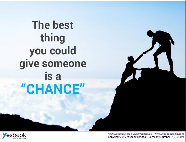 GIVE SOMEONE CHANCE - YESBOOK