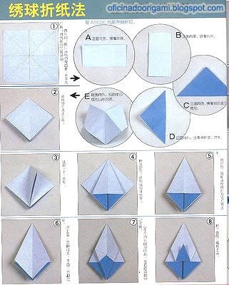 Oficina do kusudama origami diagram Diagrama  Origami: Kusudama Vênus