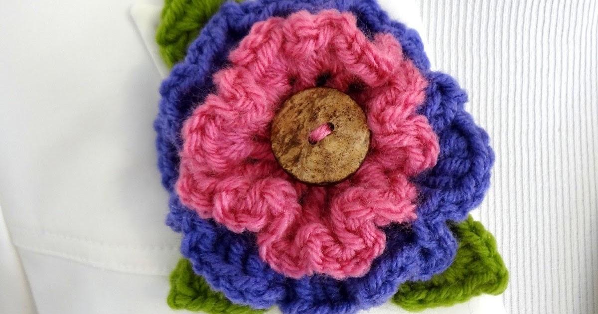 Fiber Flux: Free Crochet Pattern...Layered Ruffle Flower