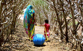 delivering the waterwheel to rural India