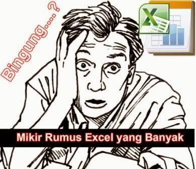 Ilustrasi Mikir Rumus Excel