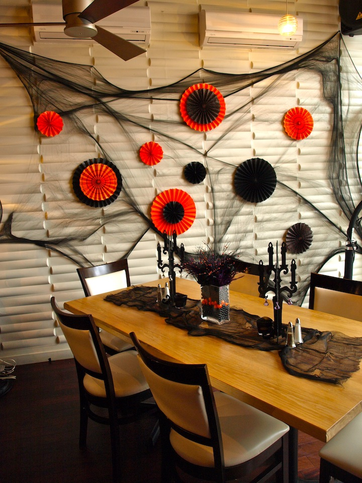 a party style halloween restaurant decorations. Black Bedroom Furniture Sets. Home Design Ideas