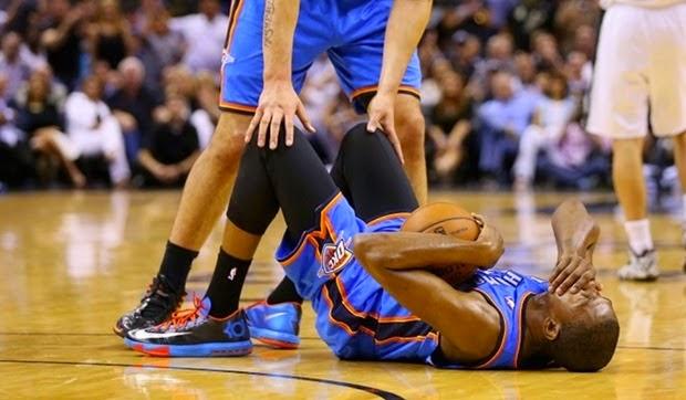 Kevin Durant se encuentra en riesgo de perder el resto del año debido a su lesión