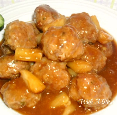 Sweet & Sour Pork Meatballs