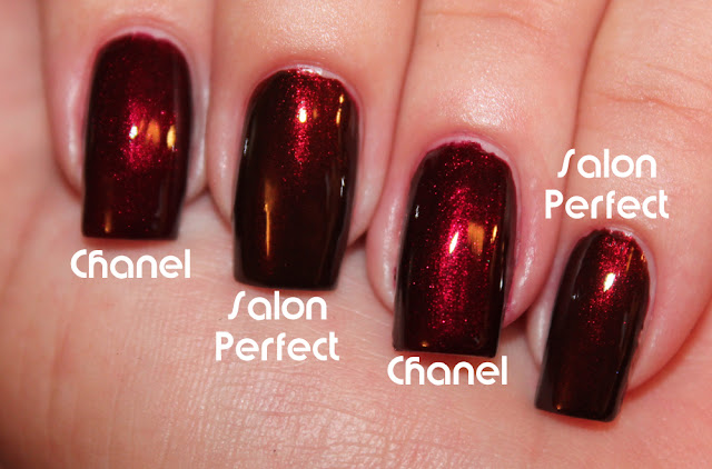 Comparison: Chanel Malice and Salon Perfect Red Dahlia