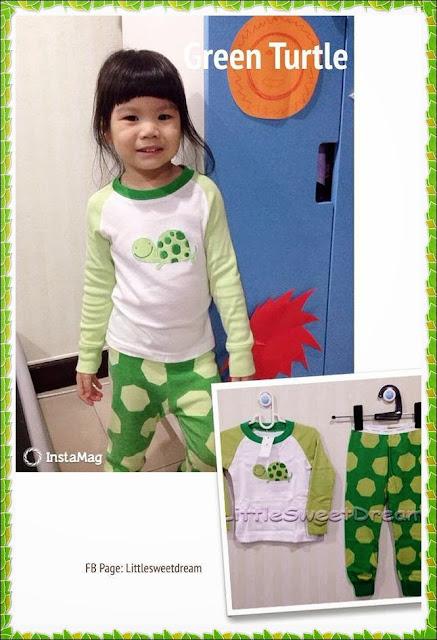ชุดนอน Baby Gap (Green Turtle)