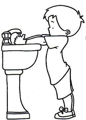 dibujo lavado mano: