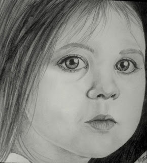 draw young girl's face