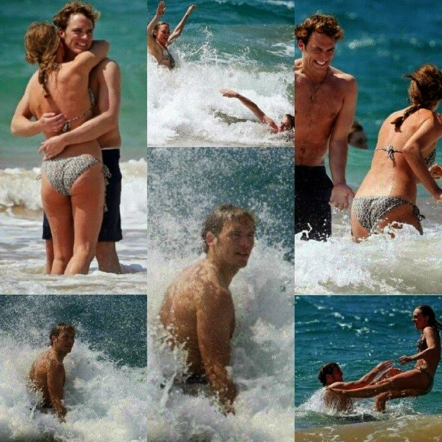 Sam Claflin and new Bikini wife on Honeymoon in Hawaii on Wednesday,‭ ‬April‭ ‬23,‭ ‬2014