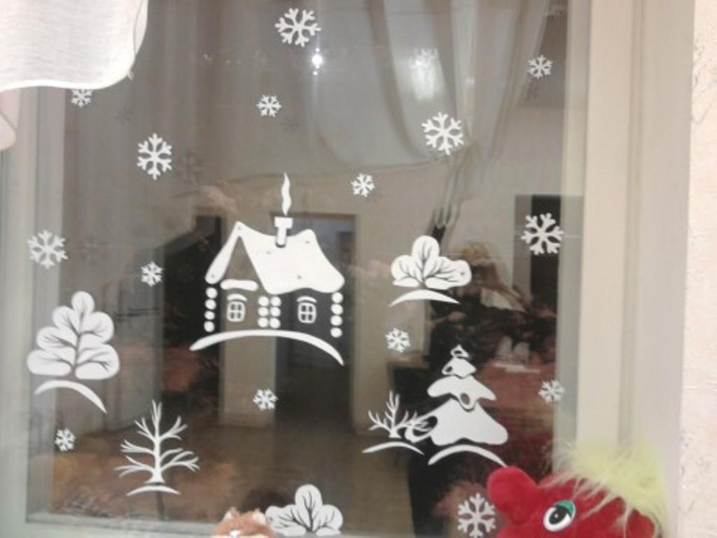 Как на новый год разрисовать окна
