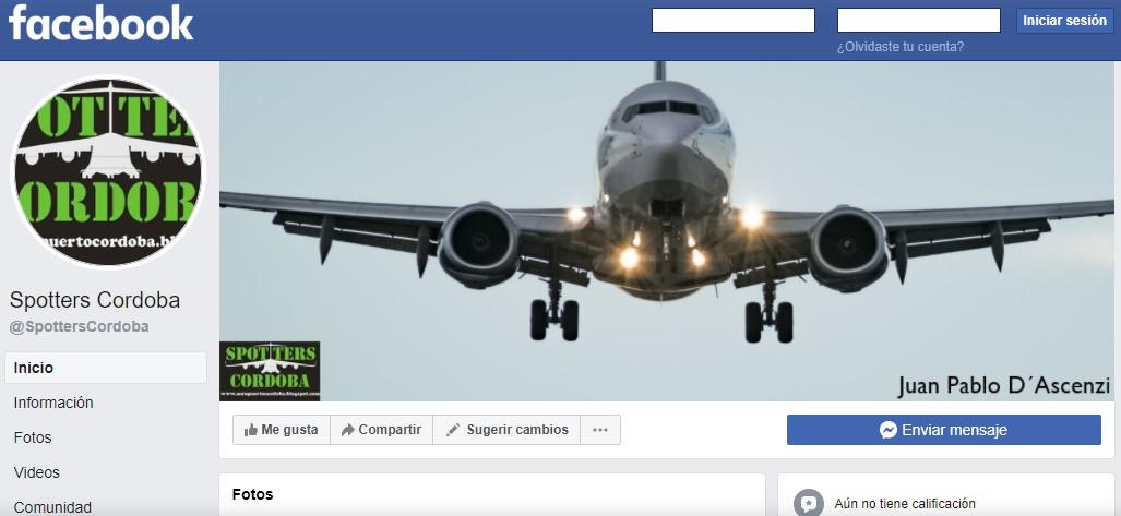 Spotters Córdoba en Facebook