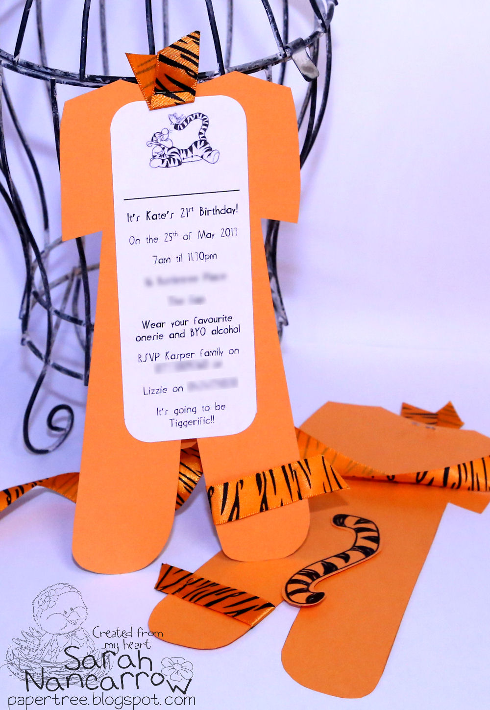 Giant onesies paper tree my latest order over at 4sparrows was an order of 60 invitations in a tigger theme for an adult onesie party now you usually only see children and babies filmwisefo Gallery