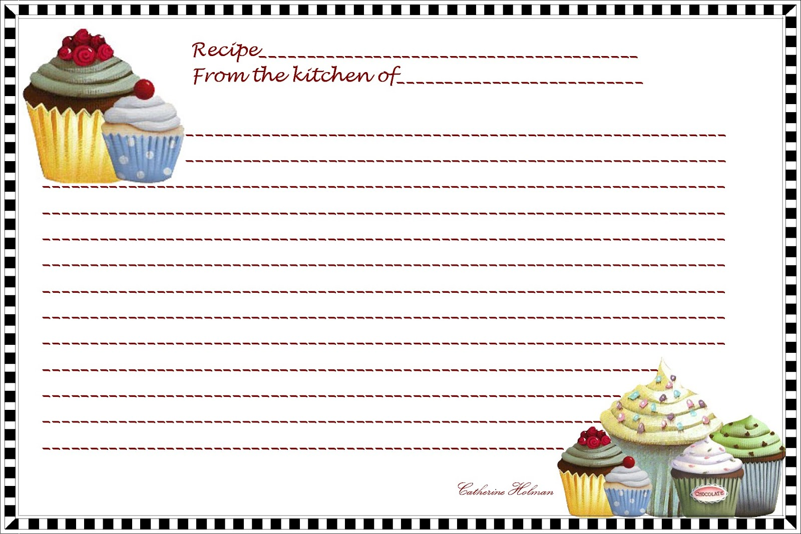 Recipes Christmas Card Templates | New Calendar Template Site