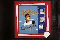 My Roberto Clemente Quilt used for fundraising at the RC Museum
