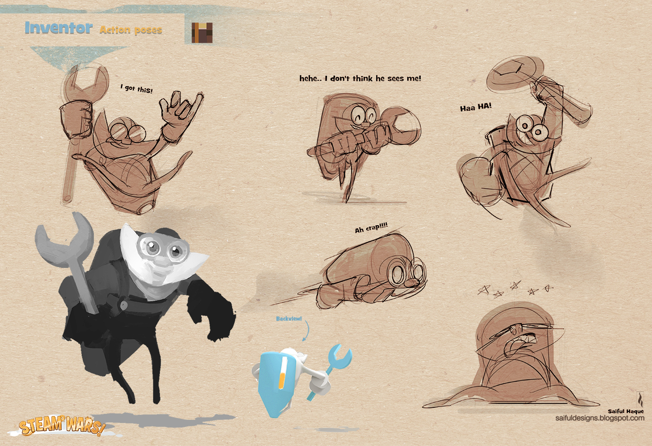 saiful haque  stylized video game character design   lotr