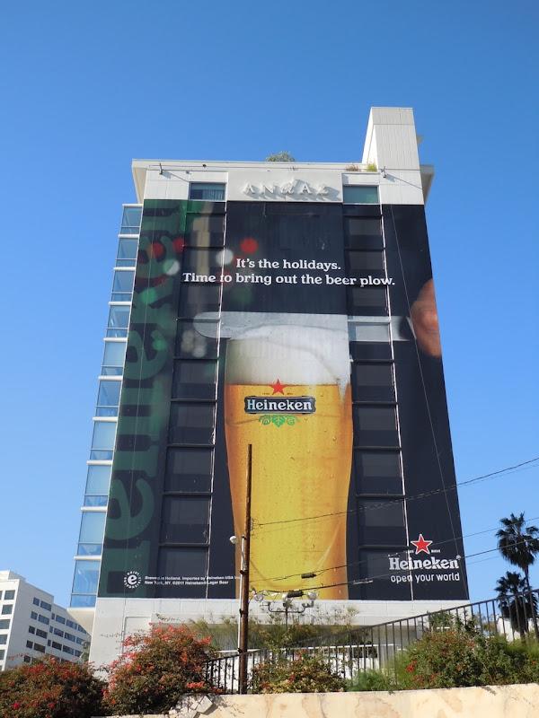 Festive Heineken beer billboard