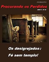 INFORMATIVO PROCURANDO OS PERDIDOS- NÚMERO ANTERIOR
