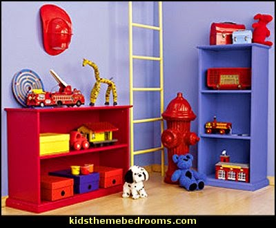 Decorating theme bedrooms maries manor fireman for Fire truck bedroom ideas