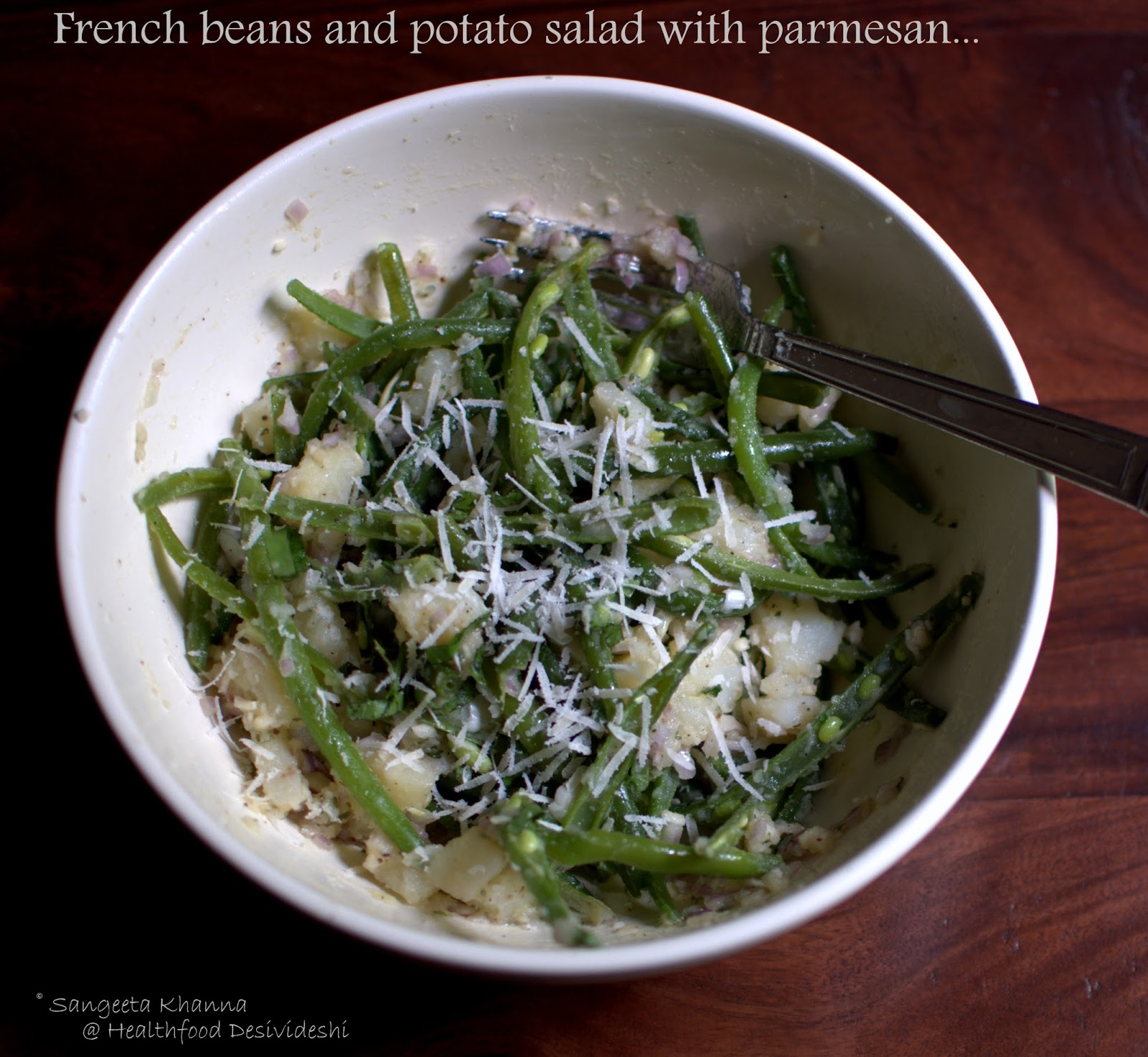 Potato Salad With Green Beans And Ricotta Recipe — Dishmaps