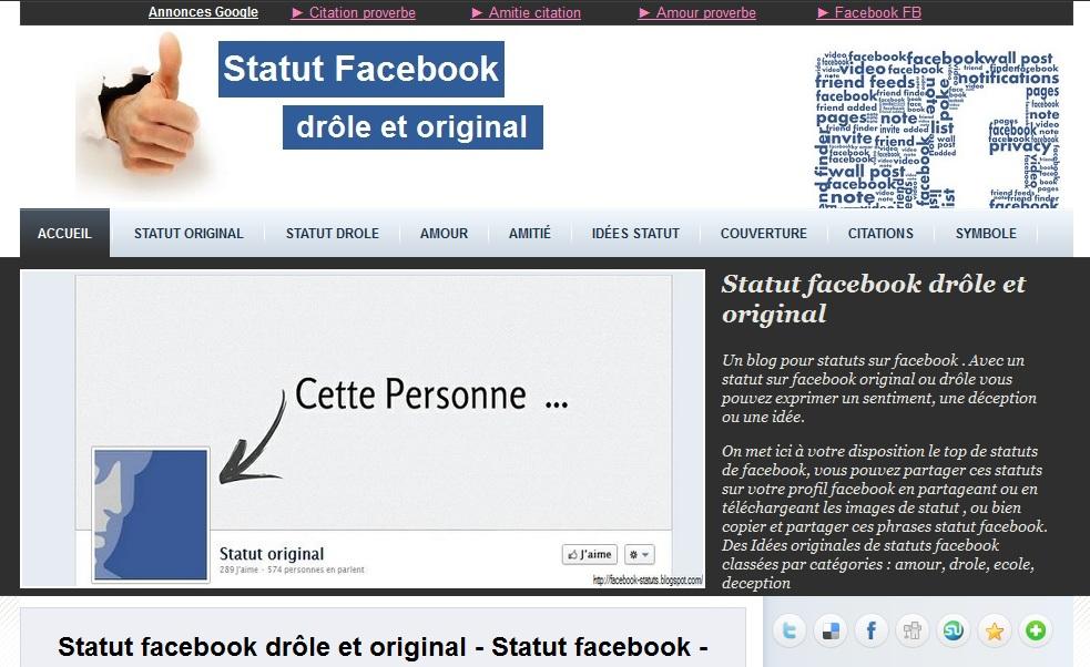 Blog statut facebook
