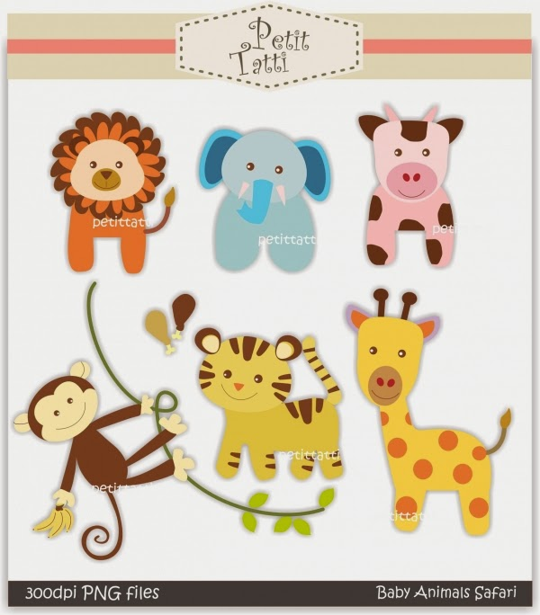 ... Baby Animal Safari Instant Petittatti Etsy, Off Sale Clip Art Onesie