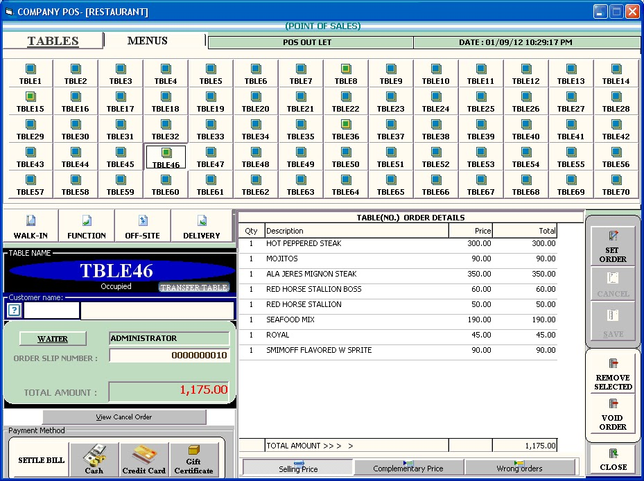 POS RESTAURANT MANAGEMENT SYSTEMRMS VISUAL BASIC PROJECT - Restaurant table management system