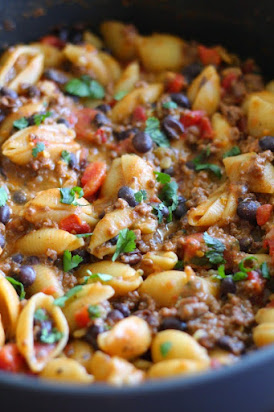 Healthier Taco Pasta in under 30 minutes