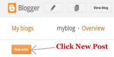 blogger dashboard