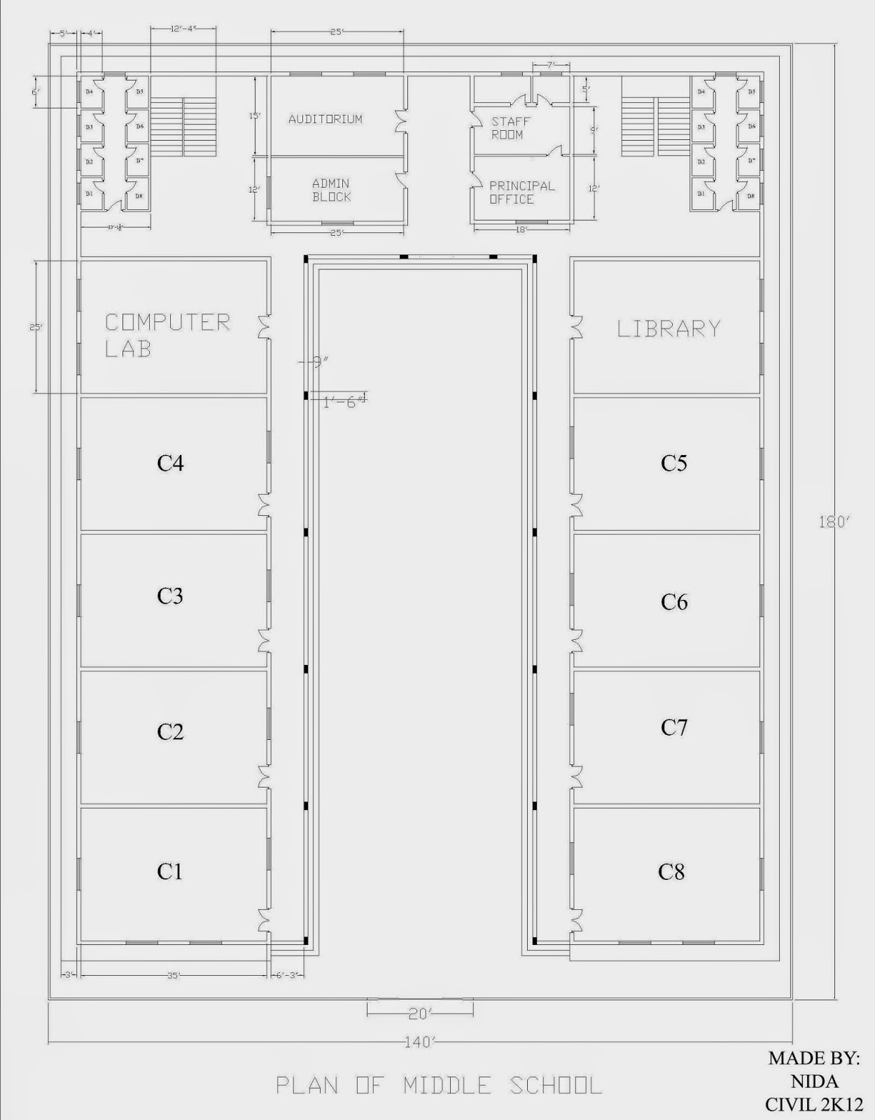 2D Plan Of School