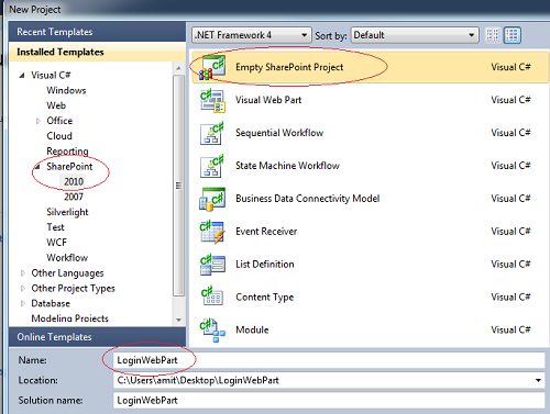 Create Custom Login WebPart In SharePoint 2010 For Forms Based Authentication FBA 