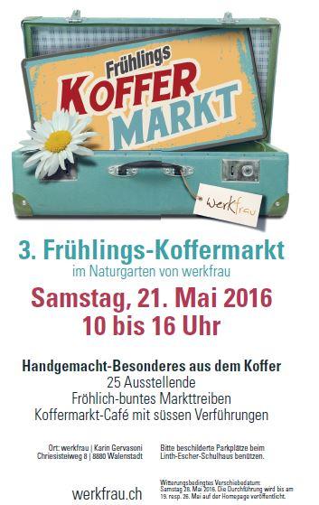 Frühlings Koffermarkt im Naturgarten der werkfrau