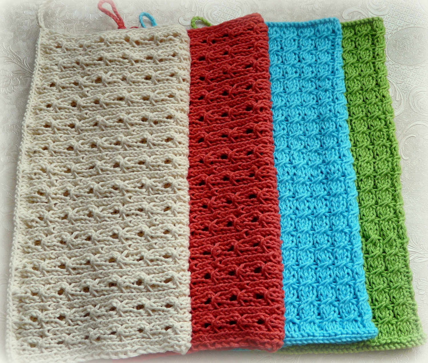 knitted kitchen cloths /towels