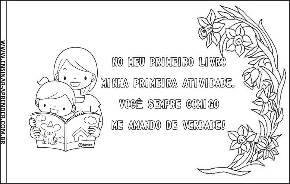 álbum Para O Dia Das Mães Cantinho Do Educador Infantil