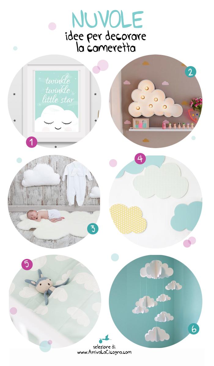 Arriva la cicogna nuvole 6 idee per decorare la camera dei bimbi for Decorare camera bambini