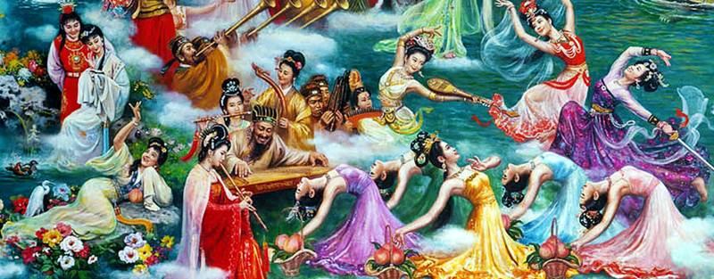 เจี้ยเป่าอี้และหลินไต้อี้ (賈寶玉跟林黛玉,คู่พระนางจากความฝันในหอแดง),  สีเซียงหยุน(1 ใน 12 สาวงามจีน), นางฟ้าวงดนตรี(王母近衛樂隊), สามนางรำ(三舞姬)、นางฟ้าห้าคนจากเจ็ดนางฟ้า (七仙女之五)