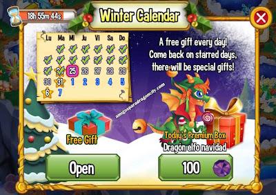 imagen del premium box del dragon elfo navidad