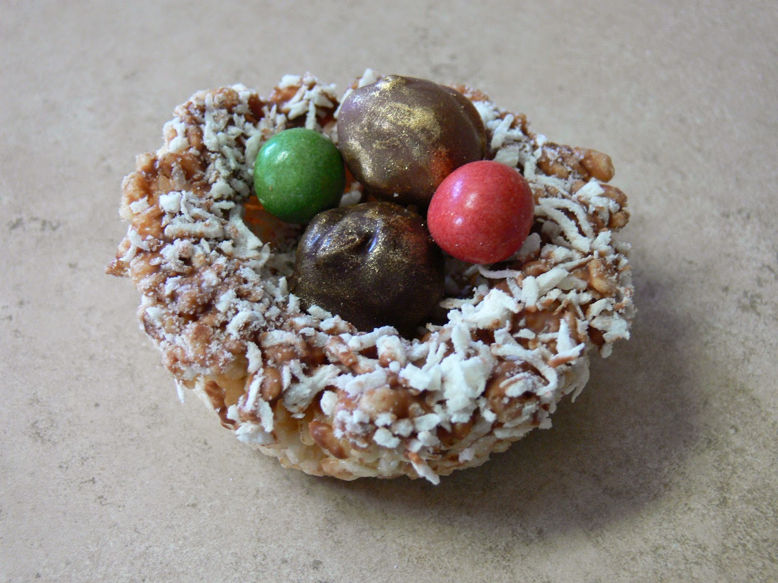 ... Blog: Easter Rice Treat Nests with Golden Milk Chocolate Truffle Eggs