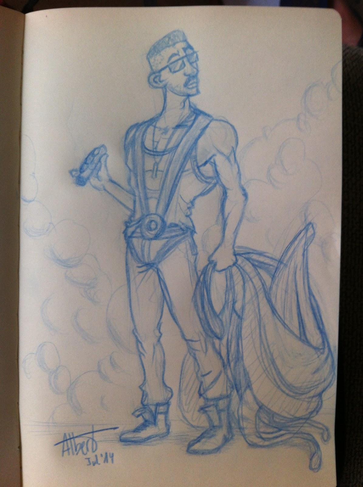 'Capt. Hiller for Sketch_Dailies'' - Albert Casado (nfok-e)