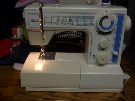 Jeans Machine White Sewing Machine