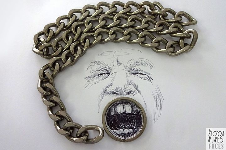 10-Chain-Scream-Victor-Nunes-The-Art-of-Making-and-Drawing-Faces-using-Everything-www-designstack-co
