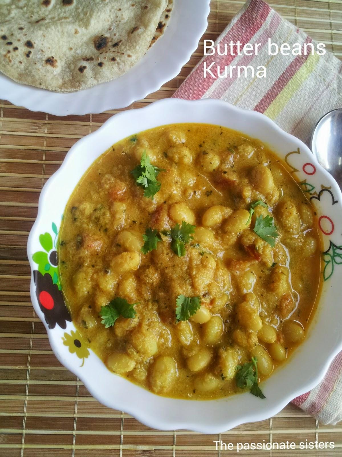 butter beans kurma