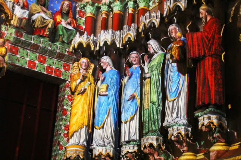 Polychromie de la Cathédrale d'Amiens