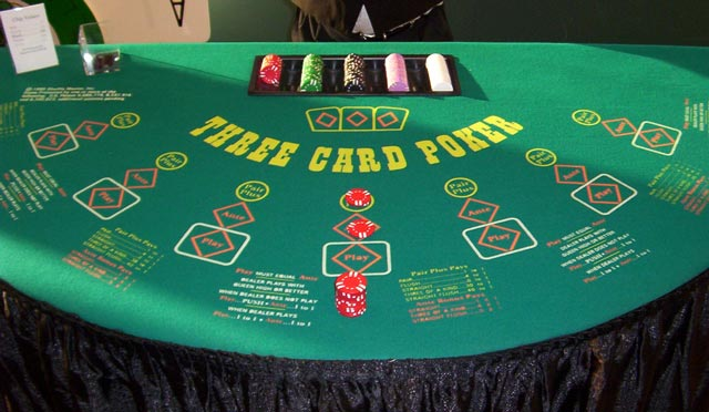 three card poker tables
