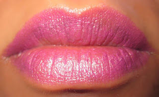 MAC Purple Lipstick Up the Amp, Heroine, Playtime swatch blog 3