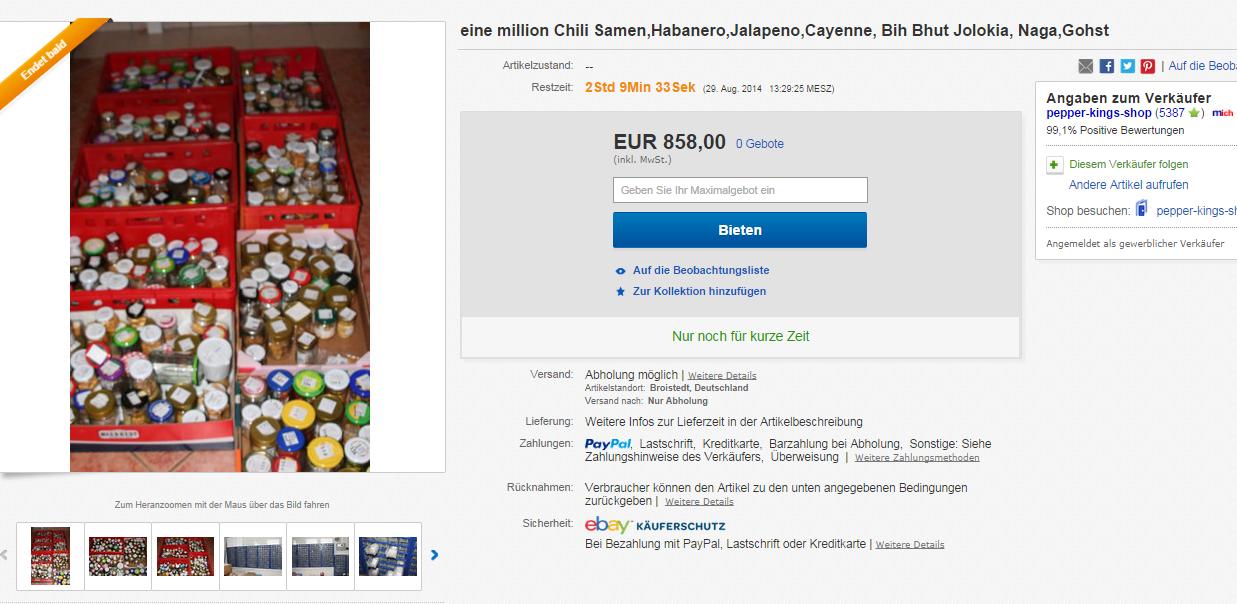 1 millionen chilisamen