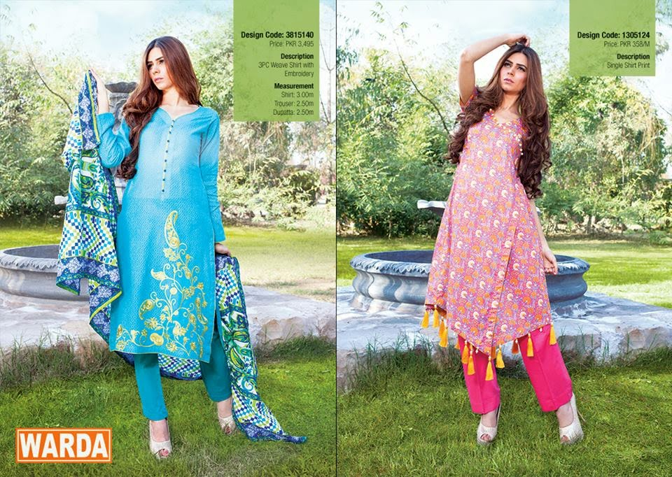 Warda new summer lawn collection 2015