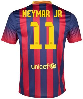 camisa FC Barcelona 2013 2014 Neymar Jr