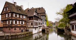Estrasburgo - capital da Alsácia, Rio Reno, França