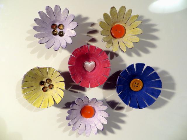 3D flower magnet kukkamagneetti