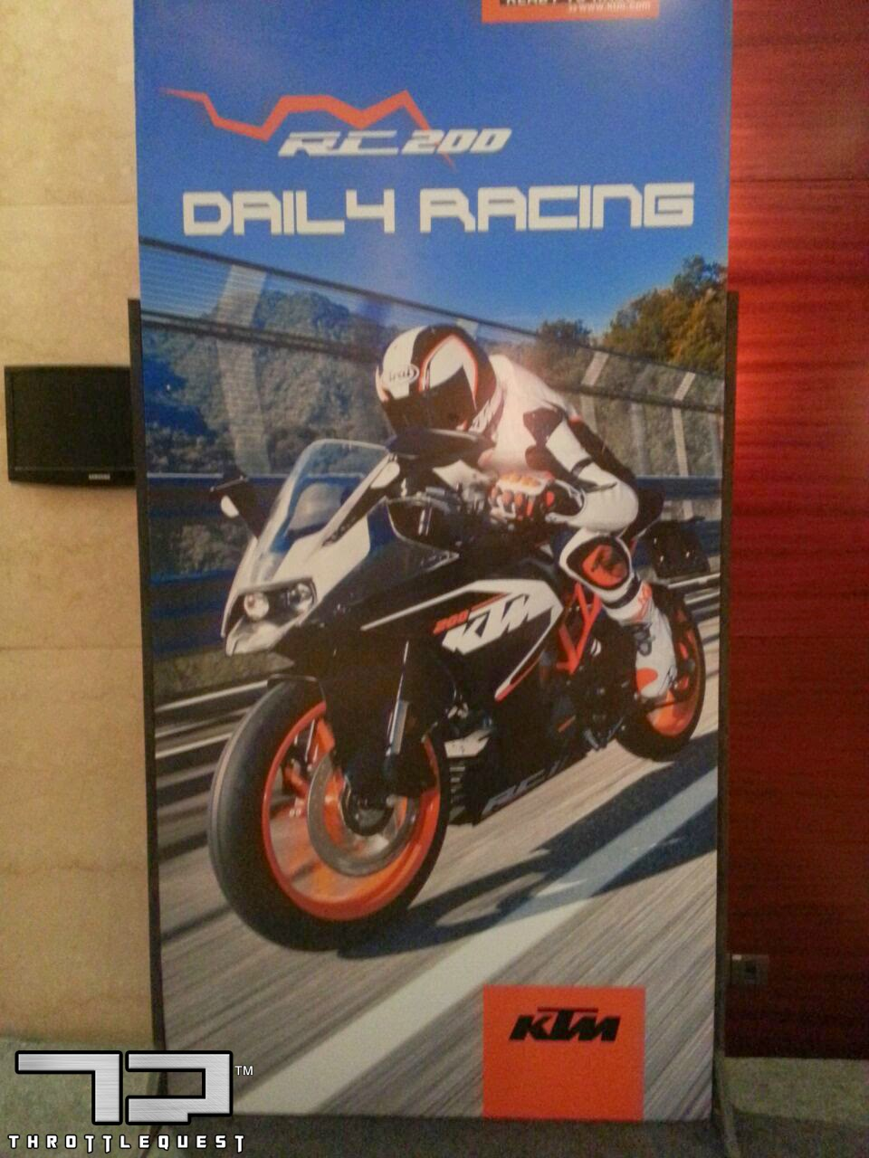KTM RC 200 India Launch